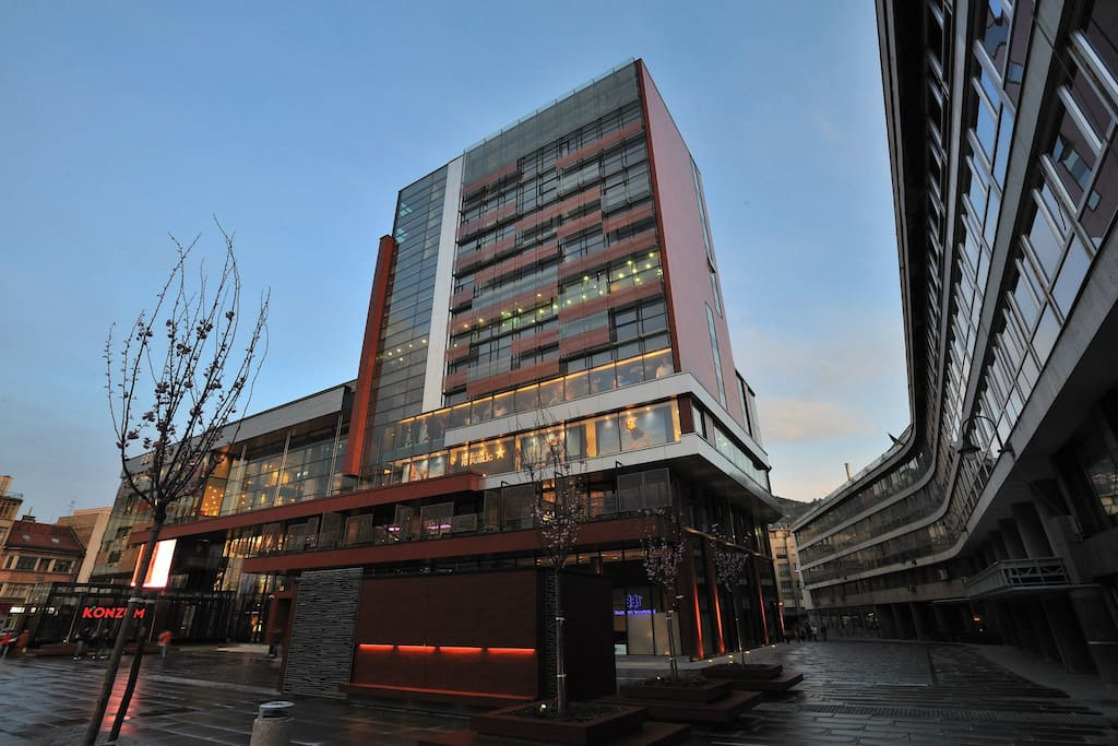 Apartment is located next to the BBI centre