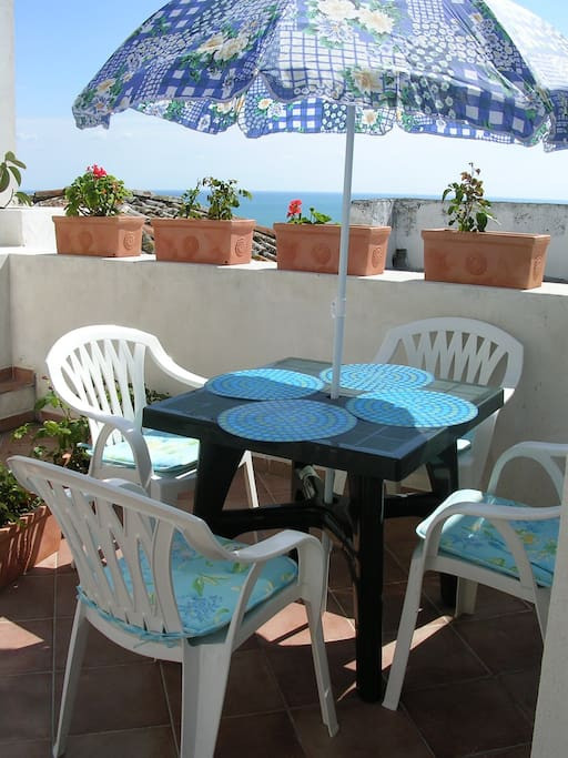 What about having a nice breakfast on the terrace?