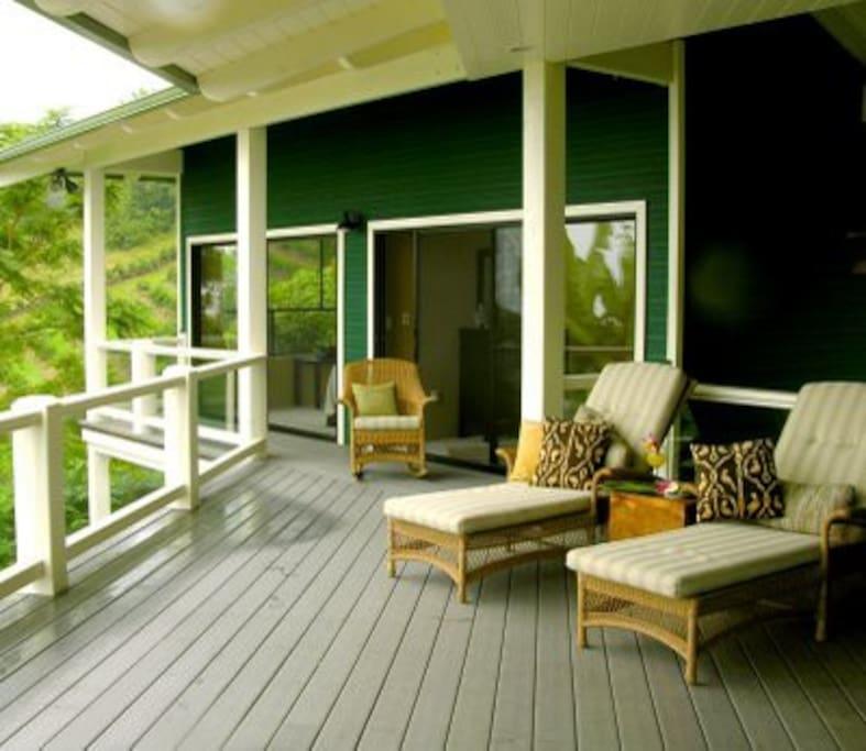 Private lanai overlooking the Kona Coast