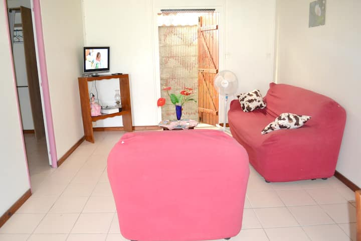 House with one bedroom in Morne-À-l'Eau, with furnished terrace and WiFi - 15 km from the beach