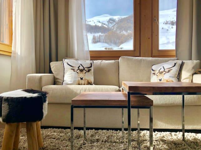 Livigno - central & modern apartement