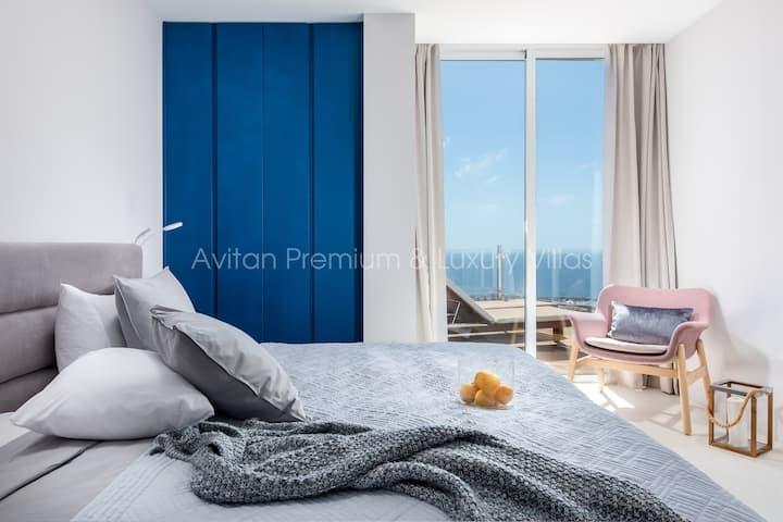 """Премиум Villa Avitan  """"Blue"""" с частным бассейном"""