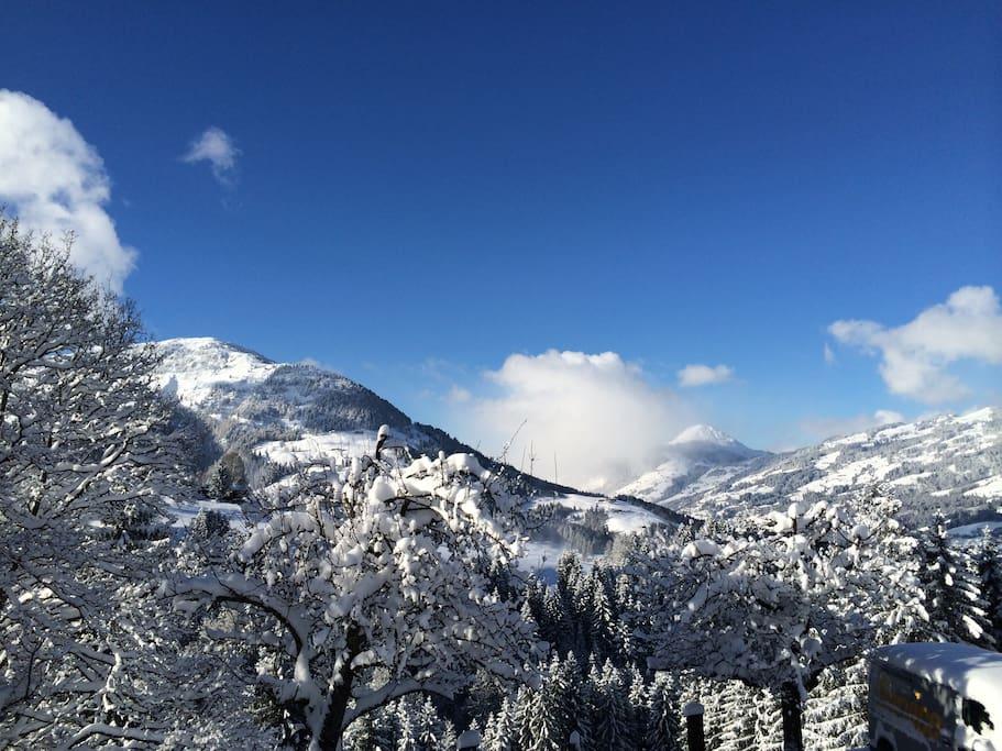 Blick zum gegenüberliegenden Gaisberg und zur Hohen Salve