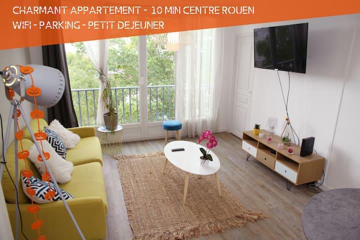 Charmant Appartement à 10 min du Centre de ROUEN.
