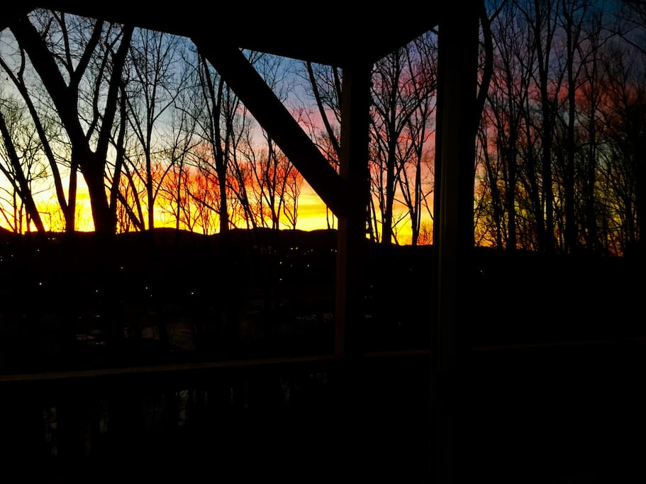 Sunrise from the Back Deck