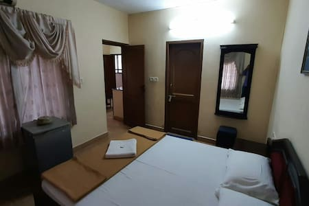 Studio apartment A/C,1Bedroom +living @ Guruvayoor