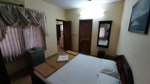 Studio apartment A/C,1Bedroom +living @ Guruvayoor