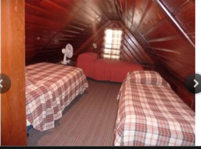 Red cabin room