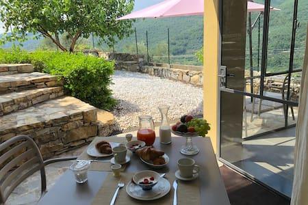 Tra ulivi e mare giardino privato  barbecue