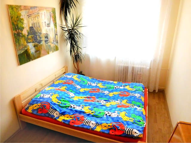 2 pers, 25 mins AIRPORT, 20 mins CITY CENTER** - Prag - Daire