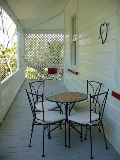 A private verandah is located outside your room with table 7 chairs