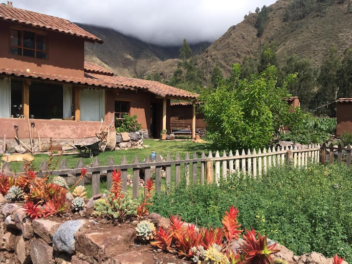 Sustainable, adobe cottage, Sacred Valley, Cusco