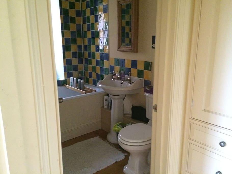 Ensuite bathroom from dressing room