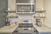 The kitchen is fully equipped with all appliances necessary!