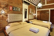 South room, we have 2 queen size bed (160x200cm) enough for 4 people
