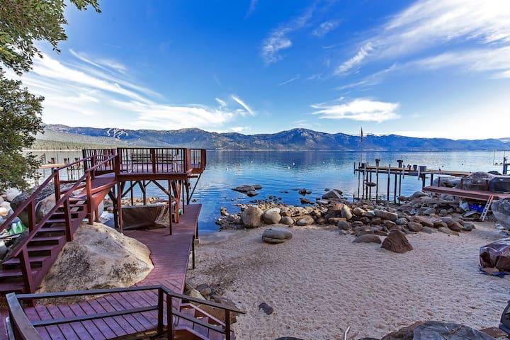 Stunning  Tahoe lake front home