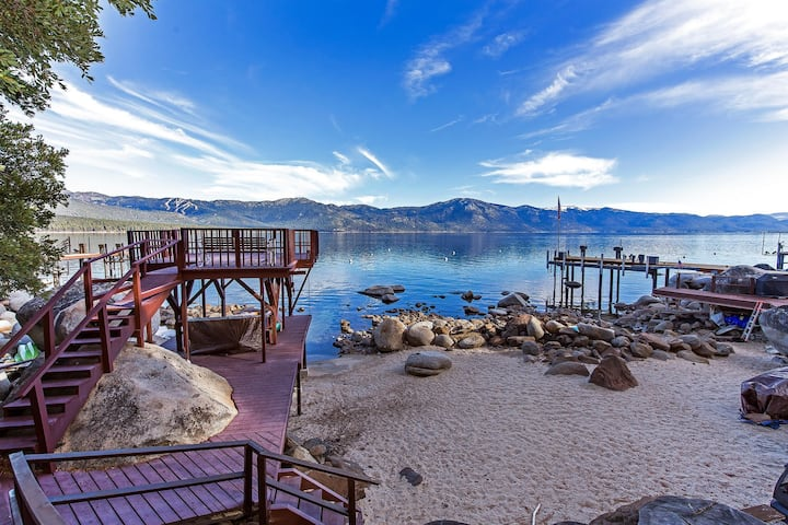Stunning  Tahoe lake front home