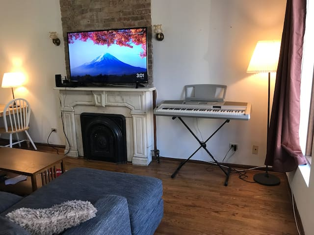 1br apt Lincoln Park 1 block from L Train