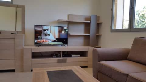 Appartement climatisé avec terrasse Wi FI .
