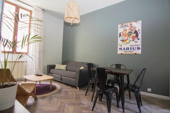 Appartement de charme climatisé coeur de Marseille