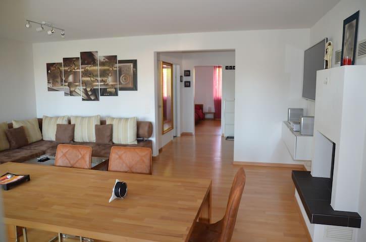 Eine schöne Wohnung mit Parkplatz, Cheminée, WLAN - Wil