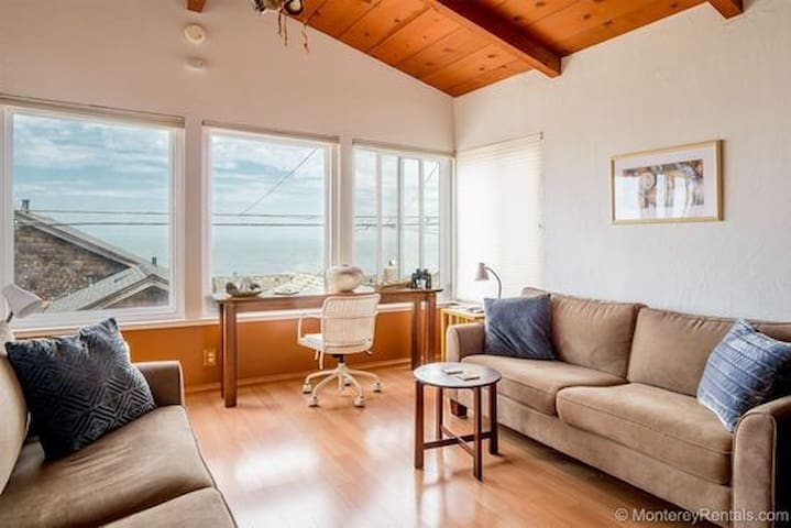 Oceanview from cozy living area