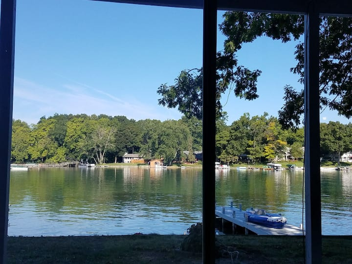 SPECIAL! Waterfront walkout.  Gull Lake with dock!