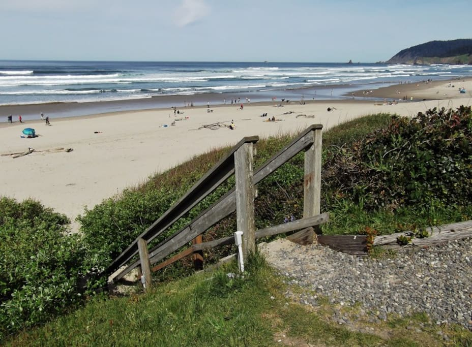 Beach access right outside your front door.