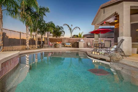 Queen Creek- Home has a pool with splash pad, fire pit & home theater! - Queen Creek