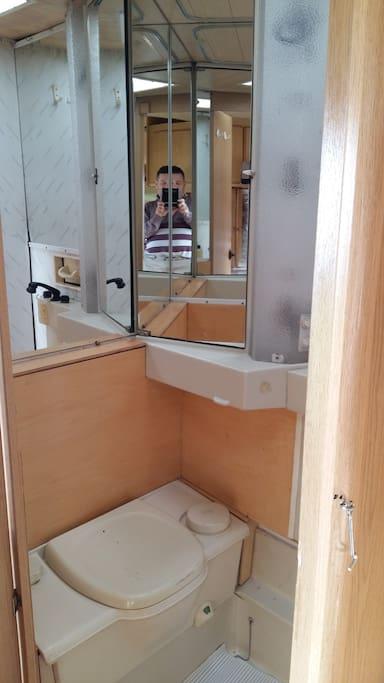 casa de banho com sanita