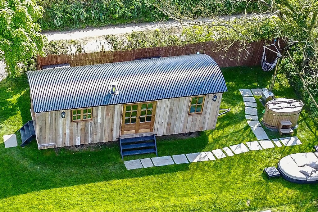 Shepherds Hut from the air!