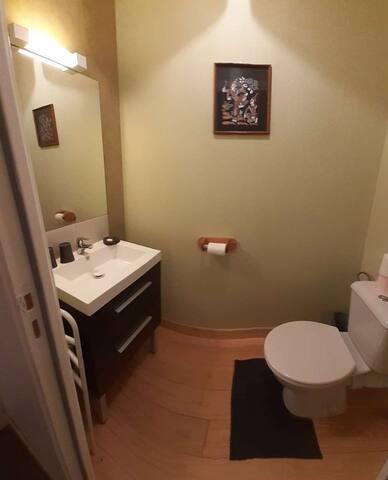 Toilette plus lavabo