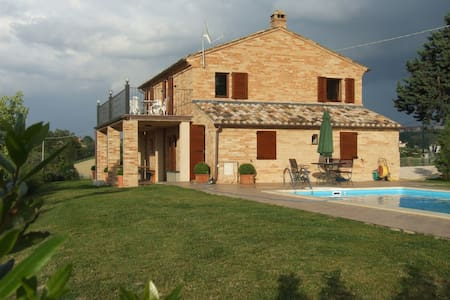 Italian farm house, Private pool - Montegiorgio