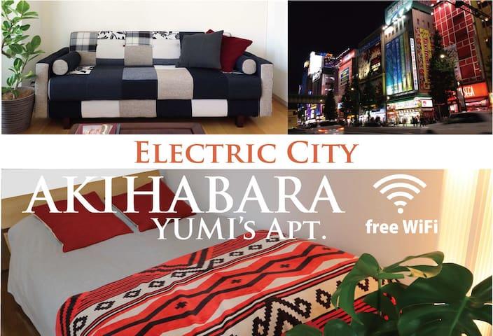 JR Akihabara3min★EasyAcces★5station★FreeWif★#2_Y2 - Chiyoda-ku