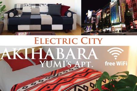 JR Akihabara3min★EasyAcces★5station★FreeWif★#2_Y2 - Chiyoda-ku - Lägenhet