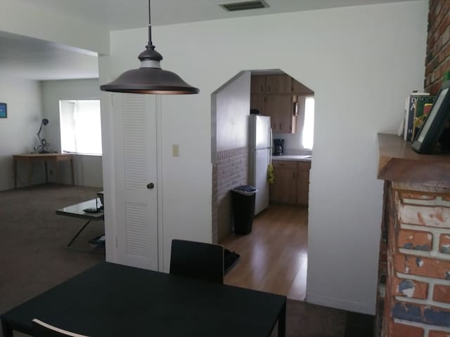 Dining area facing the front of the house