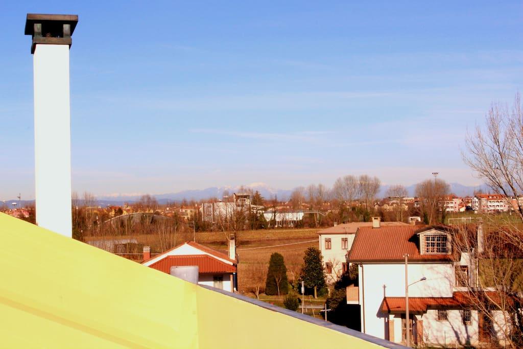 vista terrazzo colli Euganei