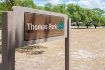 Thomas park is less than a block away!  Public pool in the summer, tennis courts, basketball courts, walking and jogging trail, picnic tables and swings. For all ages to enjoy!