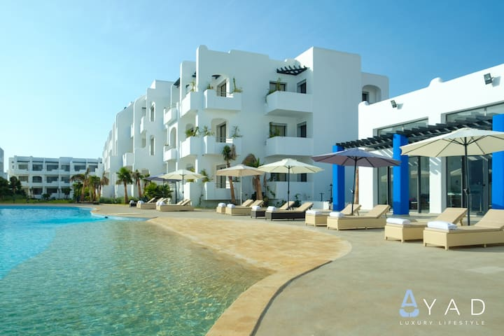 5* MANSOURIA BEACH RESORT- TWO BED ROOMS