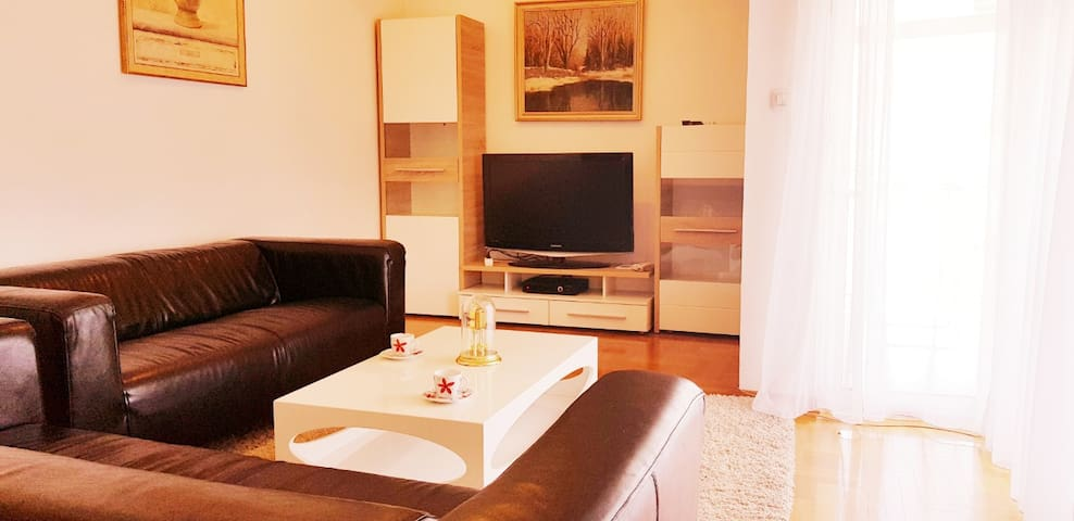 Large apartment with 3 bedrooms. Free parking!