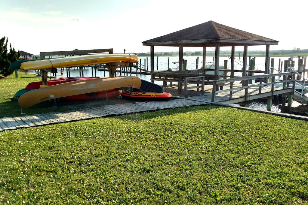 Gazebo and boat slip