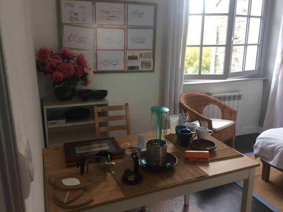 Bouilloire, thé et café ....