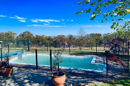 Heated Pool and Tennis Court for large group stay