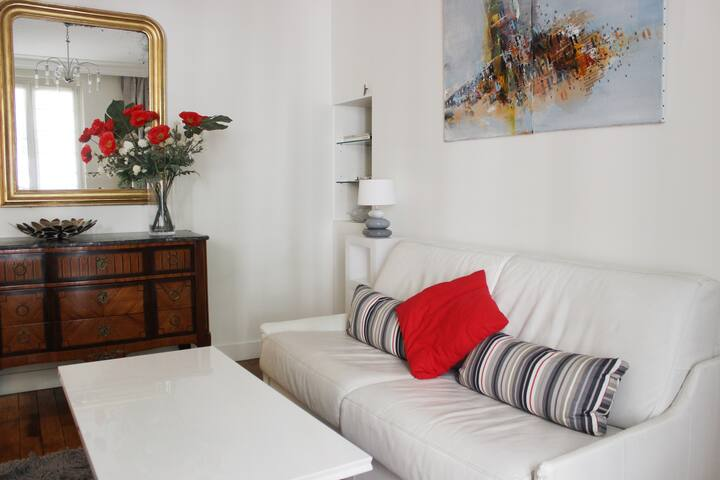 Le Marais : Charming, quiet, comfortable 1 bedroom