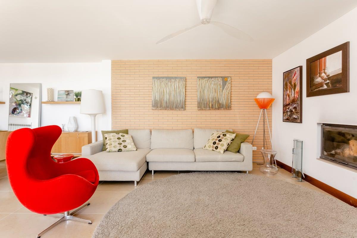 Meco Design Beach Villa in Private Setting