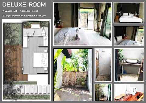 Ouandam Tiny House (Deluxe Room - King Bed)