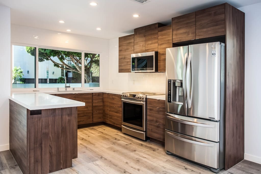 Kitchen with state of the art stainless steel appliances