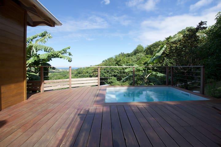Charmante maison bois avec vue mer - Le Marin - Rumah