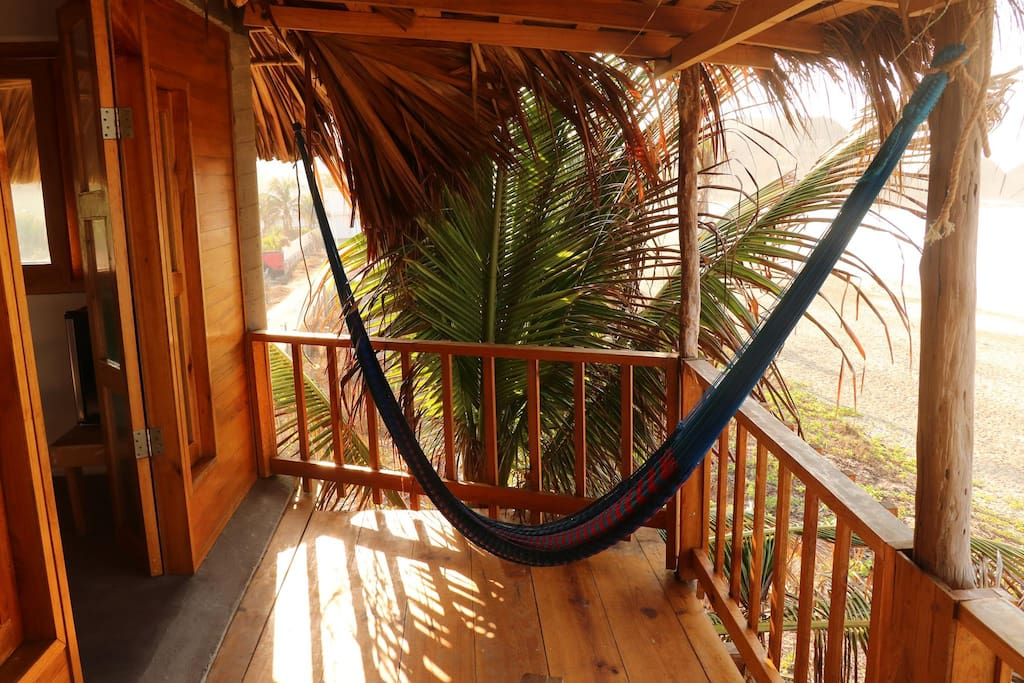 Private terrace, yoga mat and hammock