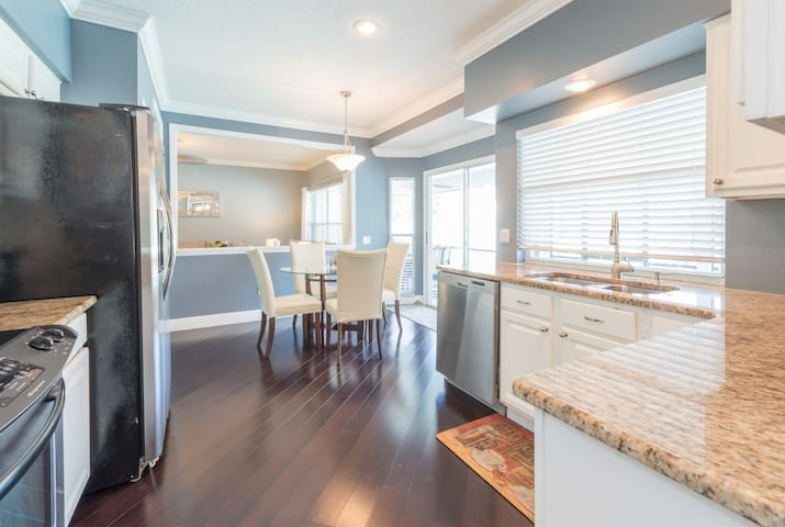 KITCHEN - Granite countertops, stainless steel appliances